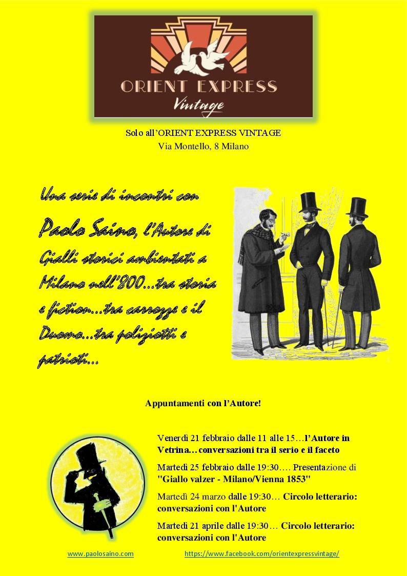Presentazione Giallo valzer – Milano/Vienna 1853